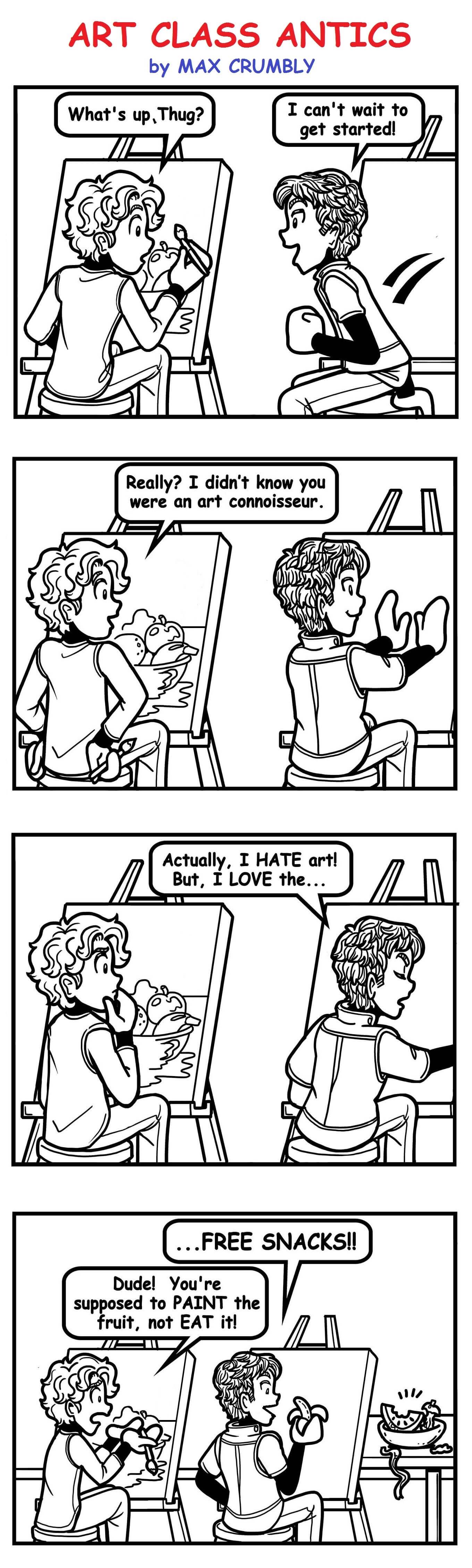 Max Comic Art Class Antics-2
